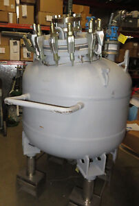 Used 100 Gallon Dedietrich Plastic Coated Glass Lined Reactor Tank