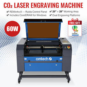 Engraver Cutter Laser Engraving Machine 60w Co2 Reliable Motherboard Re position