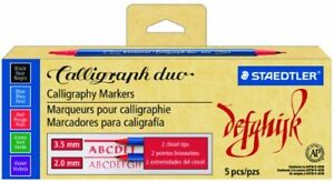 Staedtler Caligraphy Duo Markers In 5 Colors