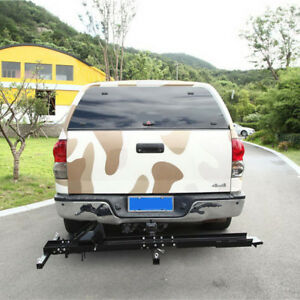 500lbs Hitch Mounted Bike Motorcycle Carrier Truck Loading Cargo Trailer Ramp