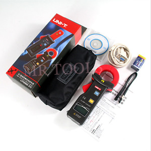 Uni t Ut251c Leakage Current Clamp Meter 600a Digital Ammeter Data Store Rs 232