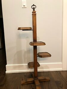Antique Mission Style 4 Tier Plant Stand