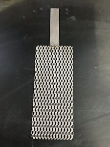 Qty Of Three 3 Titanium Mesh For Anodizing Or Plating 078 Thick With Lug