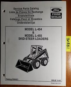 Ford New Holland L 454 L 455 Skid steer Loader Service Parts Catalog Manual 92