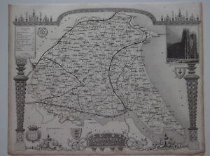 Yorkshire East Riding A Vintage Antique Map From 1848 Kingston Upon Hull Beswick