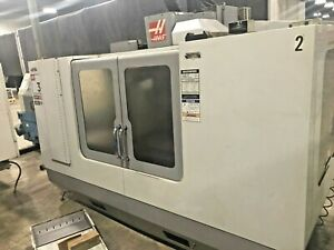 2005 Haas Vf 3 With 4th Axis Hrt 210 Rotary Table 20 Hp 2 speed Gear Drive
