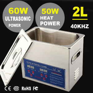 Stainless Steel 2l Liter Ultrasonic Cleaner Heated Heater W timer Industry Labs