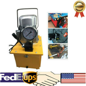 Electric Driven Hydraulic Pump 10000psi Single Acting 7l 110v Us Stock