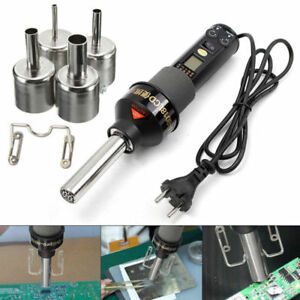 200w 1100v Lcd Display Electronic Hot Air Heat Gun Soldering Station 4nozzles