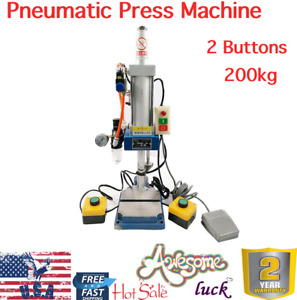 2 Buttons Pneumatic Pressing Machine 100 To 50 Type Punch Machine Presser 200kg