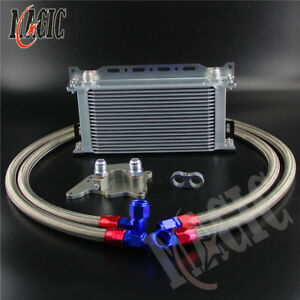 19 Row R56 Oil Cooler Kit For Bmw Mini Cooper S Supercharger W Mounting Bracket