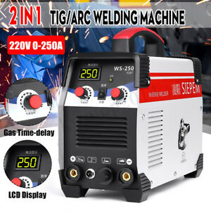 220v 7000w 2in1 Tig arc Welding Machine 250a Mma Igbt Inverter Ws 250 Welder Kit