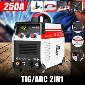 220v Tig arc Welding Machine 250a 7000w Mma Igbt Dc Inverter Gas Stick Welder