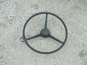 Farmall 560 460 Tractor Steering Wheel W Center Cover Cap Spinner Handle Knuc