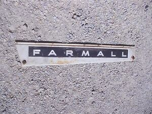 Farmall 806 Tractor Ih Ihc Front Left Hood Skirt White Panel Emblem Sp Bolts