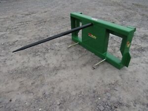 John Deere Tractor Loader Attachment Low Back Round Hay Bale Spear Ship 149