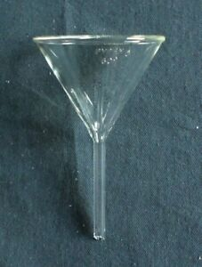 New Pyrex Short Stem 75mm Diameter 60 Angle Fluted Funnel 6180 75