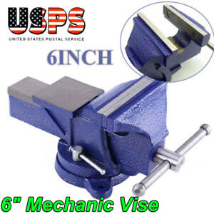 6 Heavy Duty Mechanic Bench Vise Table Top Clamp Press Locking Swivel Base