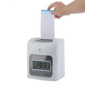 Lcd Automatic Paper Card Employee Attendance Punch Time Payroll Recorder