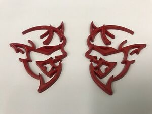 Red Emblem Fit Dodge Demon Challenger Charger Ram Badges d6