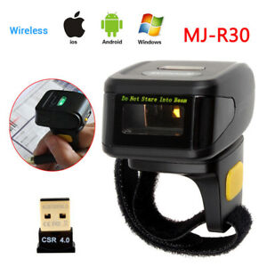Portable Wearable Ring Barcode Scanner 1d Reader Mini Wireless Barcode Scanner