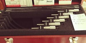 Starrett 436 Outside Micrometer Set 6 12 With Standards And Box S436drlz New