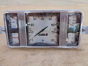 1937 1940 International Truck Gauge Cluster Original Speedometer Pickup Panel