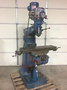 Bridgeport 9x36 Vertical Milling Machine Variable Speed 1 5hp Knee Type