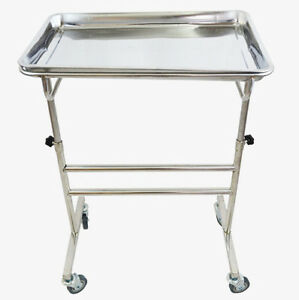 Stainless Steel Lifting Operation Tray Truck Double Bar Operation Tray Rack
