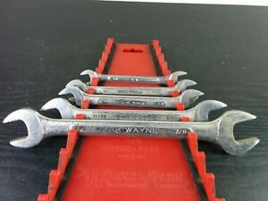 ac689 Nice Rare S k Tools 5pc Double Open End Wrench Set Sae Usa
