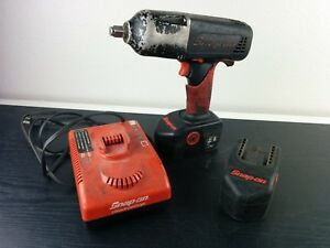 Ac676 Snap On Ct6850 1 2 18v Cordless Impact Wrench Kit Set W 2 Batteries