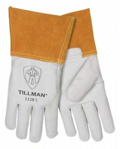 1 Dozen Pair Of Tillman 1328 Large Tig Welding Gloves Pearl Goatskin Leather