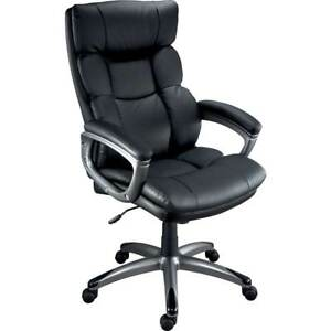 Burlston Luxura Managers Chair Black High Back Office Executive Computer Desk