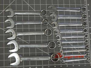 Snap On Tool Sae Short Combination Wrench 15pc Set 1 4 1 Oex Oex90 Oex320 12pt