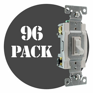 Hubbell Rs415wz Spec Grade Toggle Switch 4 way 15a 120 277v White 96 pack