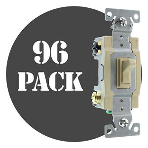 Hubbell Rs415iz Spec Grade Toggle Switch 4 way 15a 120 277v Ivory 96 pack