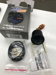 52mm Glowshift Tinted 7 Electronic 35 Psi Boost Gauge W 7 Color Led Display
