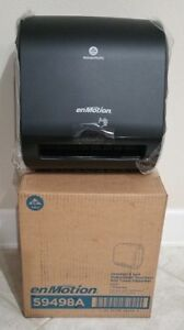 New Enmotion Georgia Pacific Automated Paper Towel Dispenser Black 59498a new
