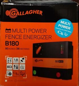 Gallagher Multi Power Fence Energizer b180 G364504 Brand New