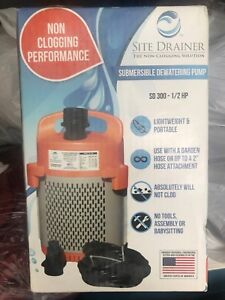 De watering Water Transfer Pump Drainer 1 2 Hp Electric Submersible Non clogging