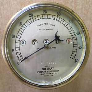 Antique Stewart Speedometer Model 24 Ford Model T Nr A 19091