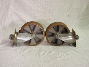 Used Pair Of Heavy Duty 8 Swivel Casters