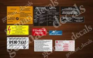 Bmw E21 1980 1983 Euro 320 6 323i Restoration Stickers Set Aufkleber
