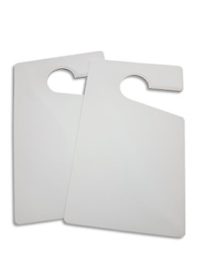 Parking Permit Hang Tag Pass Blank White Diy Completely Customizable For Rear Of
