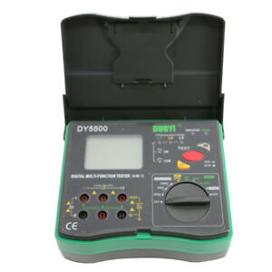 New Dy5500 Multi Insulation Earth Ground Ac Tester Meter fast Shipping
