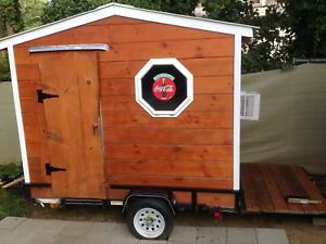 Coffee House travel Trailer Rv camper mobile Office