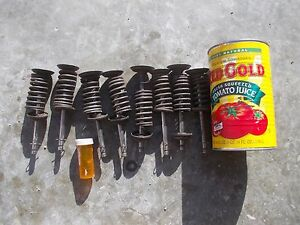 Farmall 400 450 Tractor Ihc Ih Engine Motor Head Valves Springs Keepers Pieces