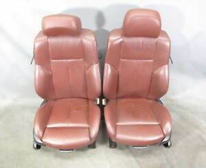 2004 2010 Bmw E63 6 Series Coupe Front Factory Sports Seats Chateau Red Leather