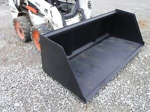 Bobcat Skid Steer Attachment 96 Chicken Turkey Litter Smooth Bucket Ship 199