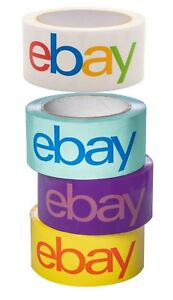 Ebay branded Packaging Shipping Tape 2 X 75 Yards Blue Purple Yellow